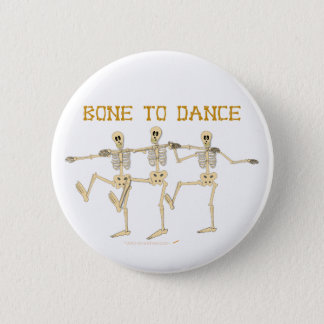 Funny Dancing Skeletons Bone To Dance Cartoon 2 Inch Round Button