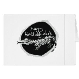 funny dark birthday message from cartoon crocodile card