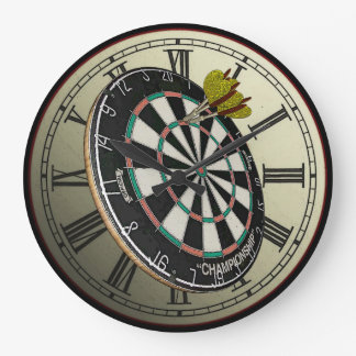 Funny Dartboard Design Wall Clock