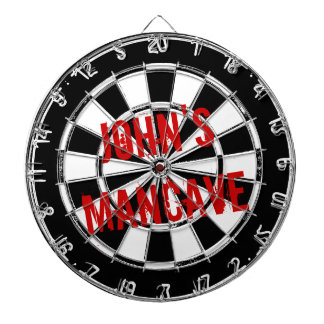 Funny dartboard for men with a grungy mancave