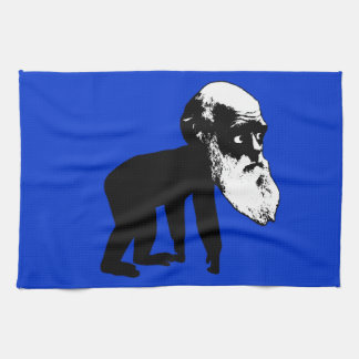 Funny Darwin evolution Kitchen Towel