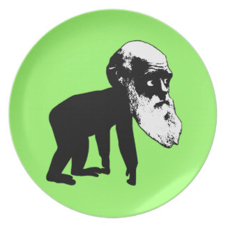 Funny Darwin evolution Party Plate