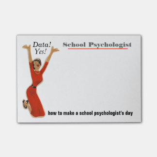 Funny Data Driven School Psychologist Sticky Notes