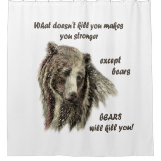 Funny De-Motivational Be Strong Bear art quote