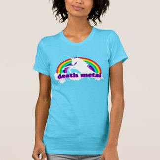 Funny Death Metal Unicorn and Rainbow T-Shirt