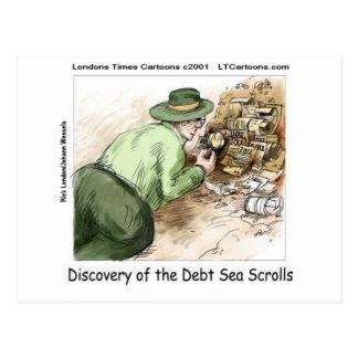 Funny Debt Sea Scrolls Postcard