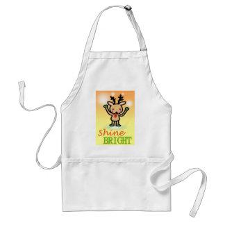 Funny deer cartoon Shine Bright quotes Standard Apron