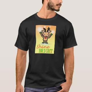 Funny deer cartoon Shine Bright quotes T-Shirt