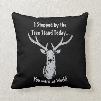 Funny Deer Hunting Big Buck Pillow