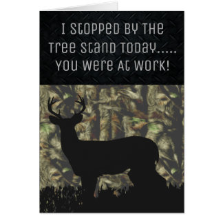 Funny Deer Hunting Birthday Card