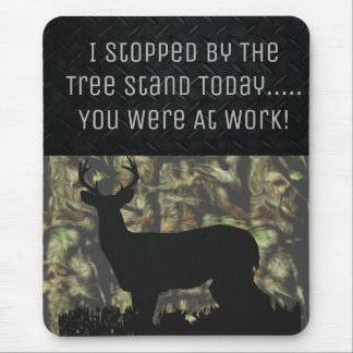 Funny Deer Hunting Camo Mouse Pad