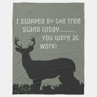 Funny Deer Hunting Tree Stand Blanket