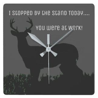 Funny Deer Hunting Work Clock