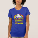 Funny Delusional Unicorn (distressed vintage) Shirt