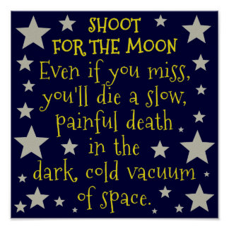 Funny Demotivational Outer Space Moon Poster