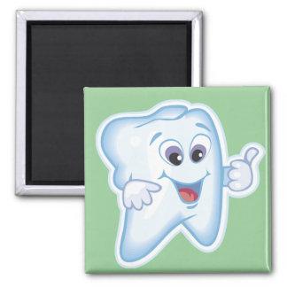 Funny Dental Health Square Magnet