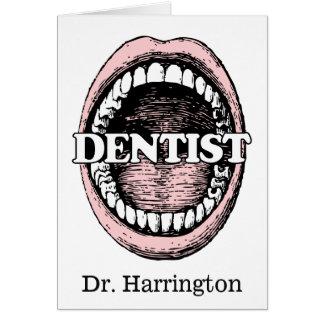 Funny Dentist custom name greeting card