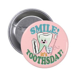 Funny Dentist Dental Hygienist Pinback Buttons