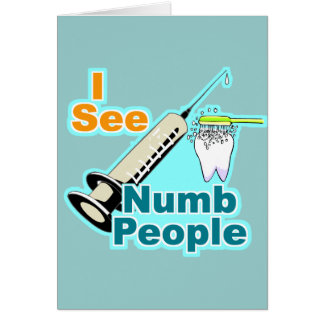 Funny Dentist Dental Hygienist Card