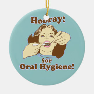 Funny Dentist Dental Hygienist RDH Ceramic Ornament