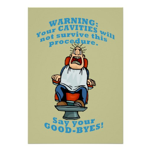 Wall Art For Dental Office : Funny dentist office wall art poster zazzle