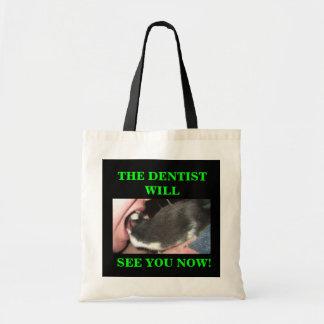 FUNNY DENTIST RAT TOTE BAG