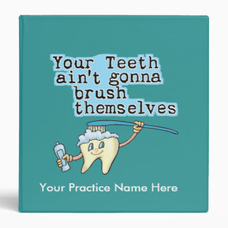 Funny Dentist's Office Appointment Book Vinyl Binders