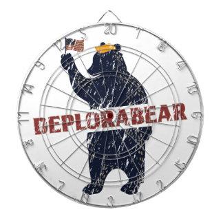 Funny Deplorabear Trump America Dartboard
