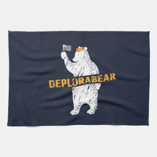 Funny Deplorabear Trump America Kitchen Towel