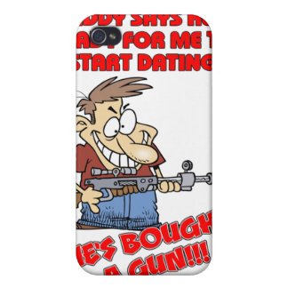 Funny design for father with daughters iPhone 4/4S cover