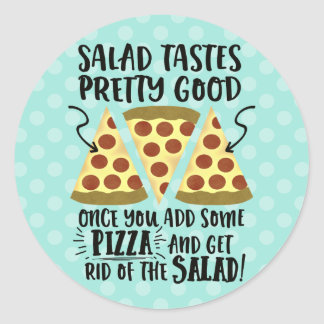 Funny Dieting Tips Typography Round Sticker