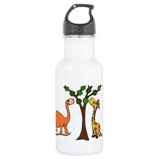 Funny Dinosaur and Giraffe Cartoon 532 Ml Water Bottle