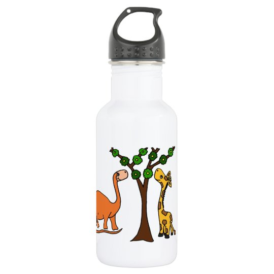Funny Dinosaur and Giraffe Cartoon 532 Ml Water Bottle