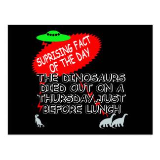 Funny Dinosaur extinction Postcard