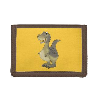 Funny dinosaur tri-fold wallet