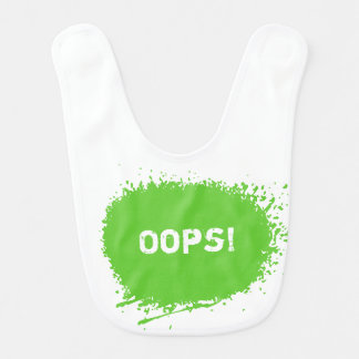 Funny dirty look baby bib   spilled food graphic