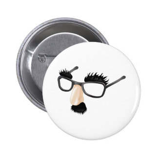 Funny disguise illustration pinback button