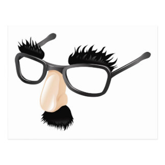 Funny disguise illustration post card