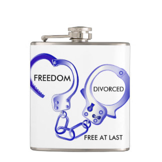 Funny Divorced freedom Hip Flask