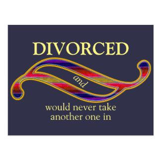 Funny Divorced Mix Colors Ornament Postcard