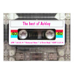"Funny DJ 80s Cassette Tape 40th Birthday 5"" X 7"" Invitation Card"