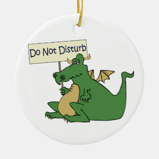 Funny Do Not Disturb Door Hanger Ceramic Ornament