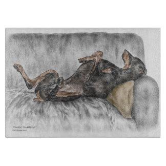 Funny Doberman on Sofa Boards