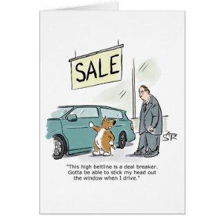 Funny dog birthday card from Crowden Satz