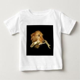 Funny Dog Carrying Horse Teeth Bone Baby T-Shirt
