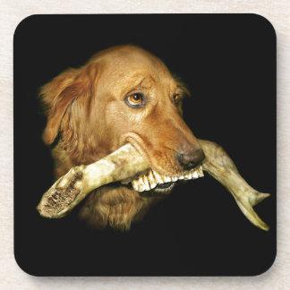 Funny Dog Carrying Horse Teeth Bone Coaster