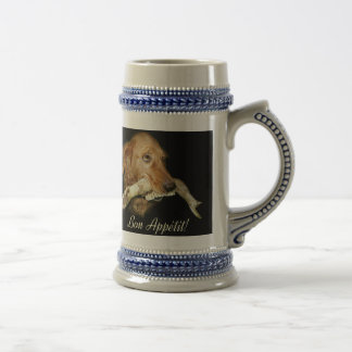 Funny Dog Carrying Horse's Teeth Beer Stein
