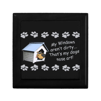 Funny Dog Cartoon - My windows aren't dirty ... Gift Box
