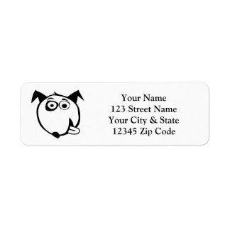Funny dog cartoon return address labels