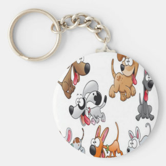 Funny dog characters design keychains